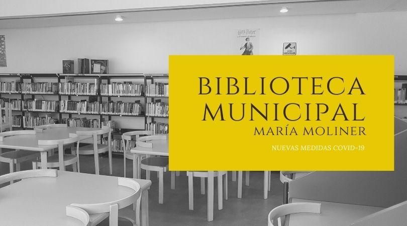 Nuevas medidas COVID-19 en la Biblioteca Municipal María Moliner