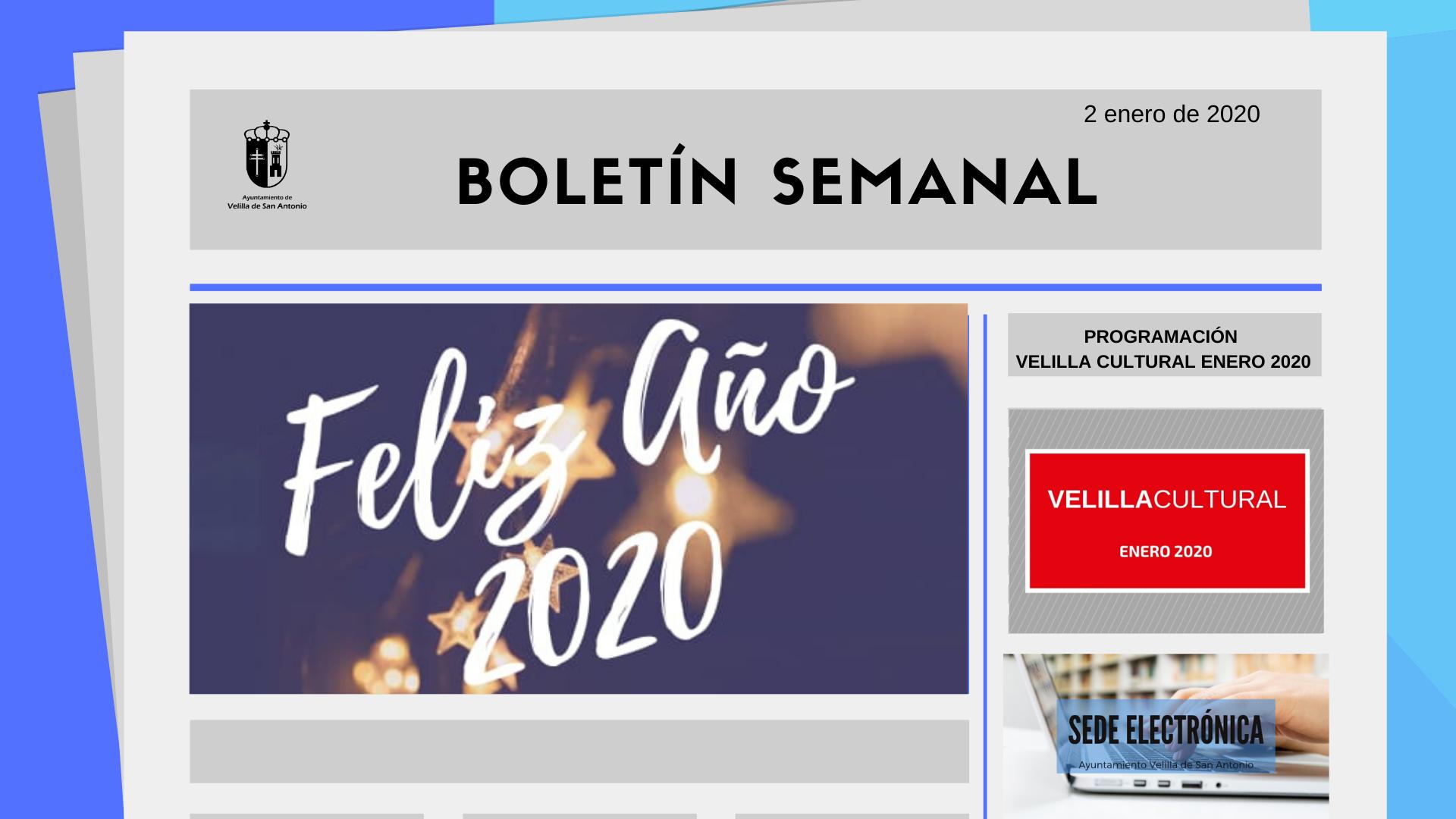 Boletín Semanal 1/2020