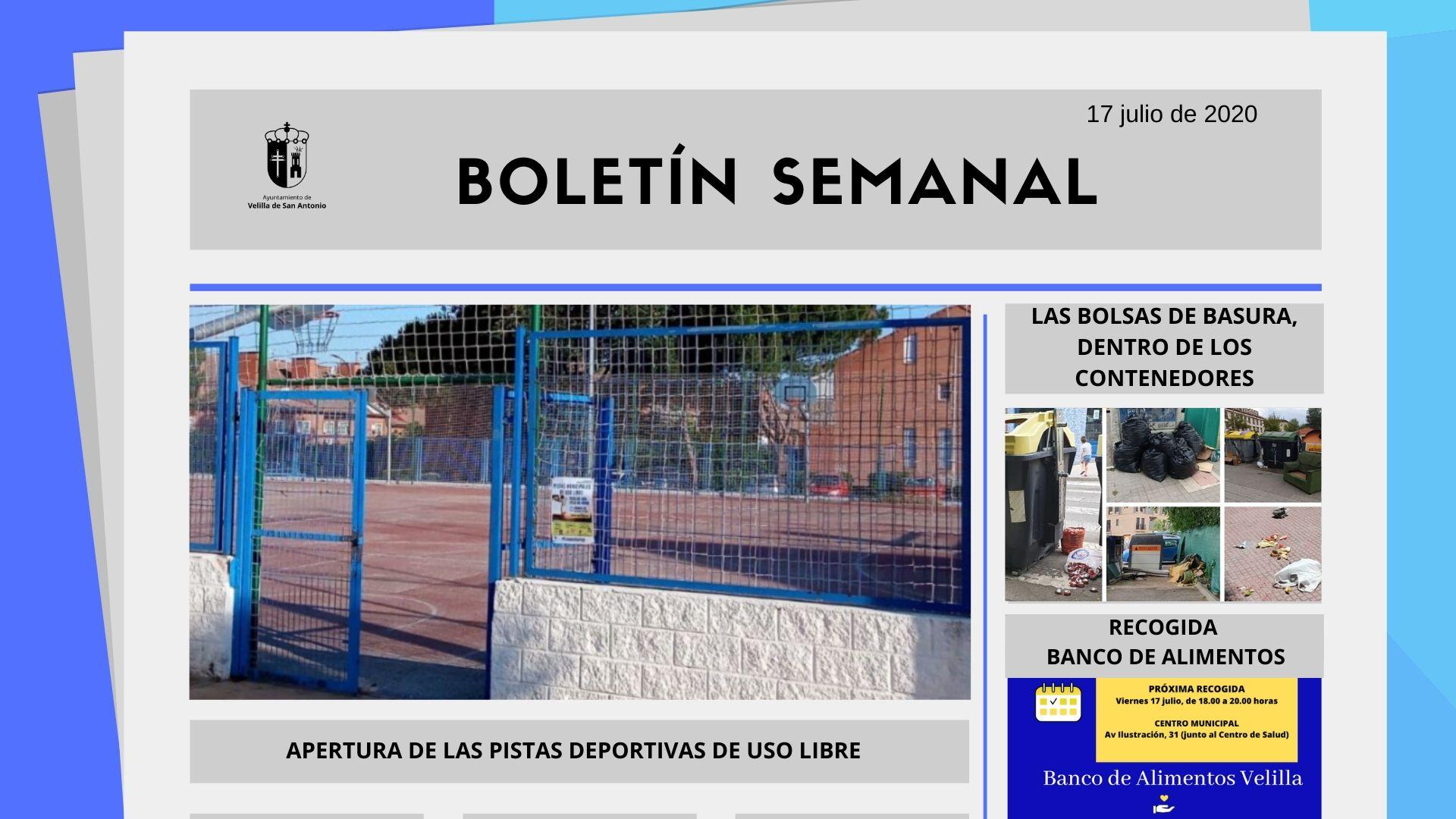 Boletín Semanal 29/2020