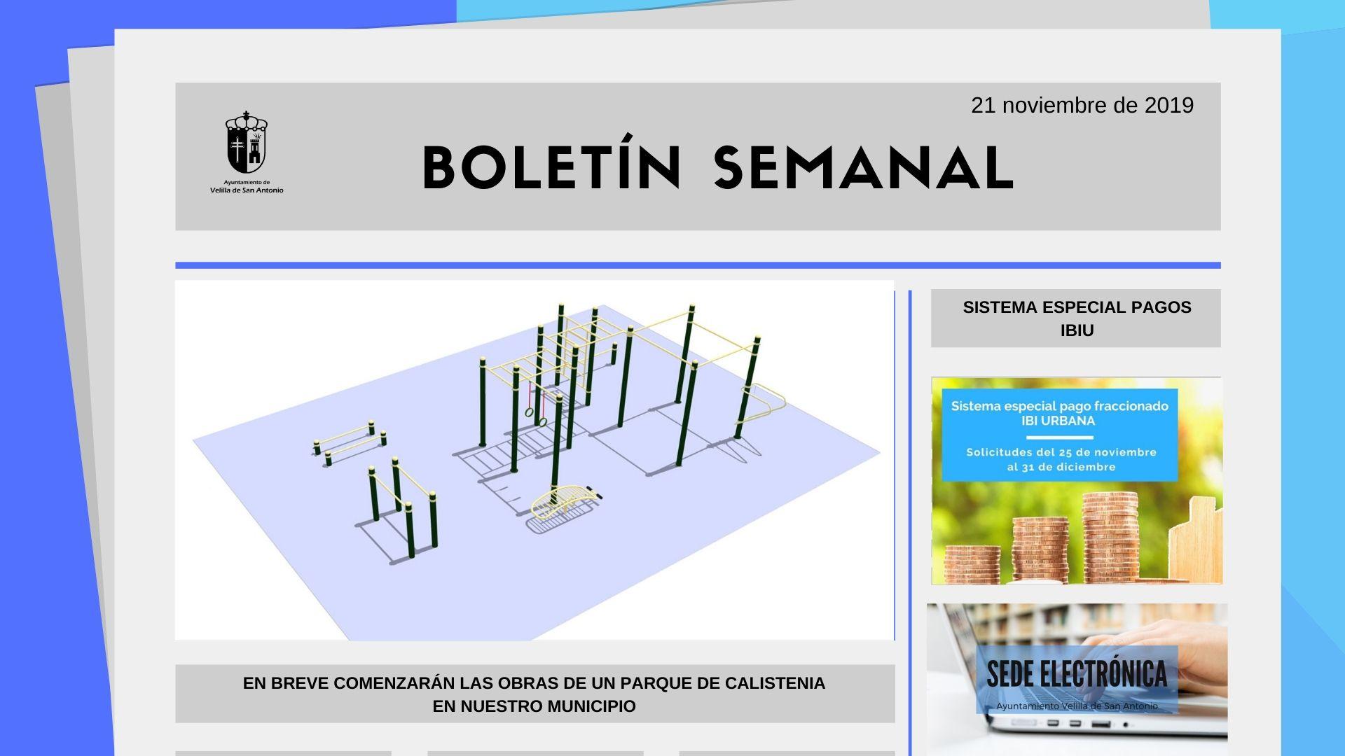 Boletín Semanal 38/2019