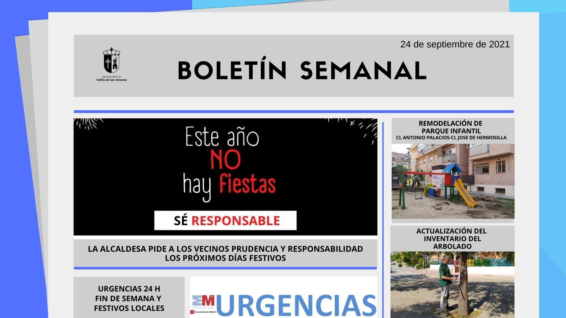 Boletín Semanal 37/2021
