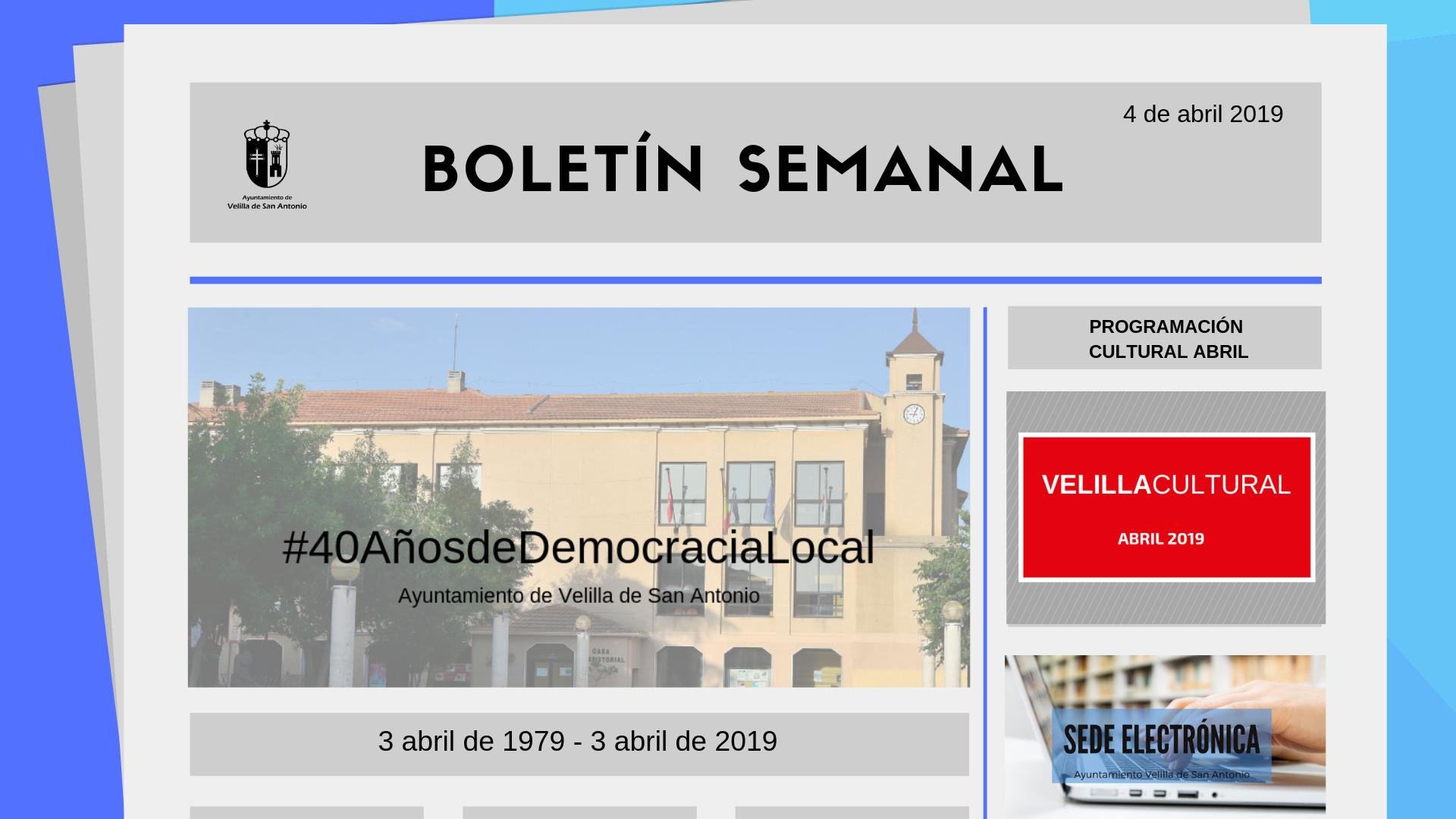 Boletín Semanal 12/2019