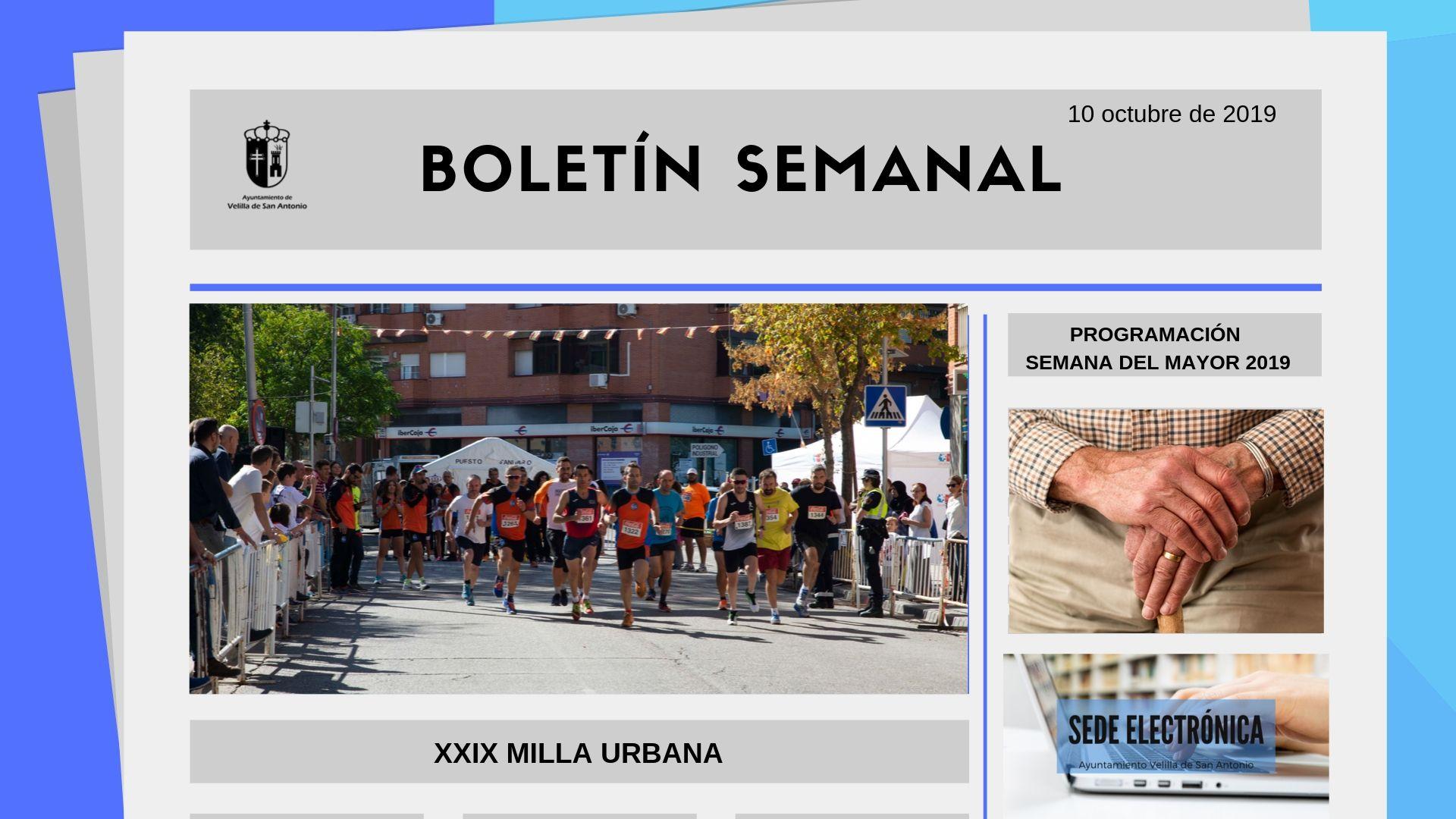 Boletín Semanal 33/2019