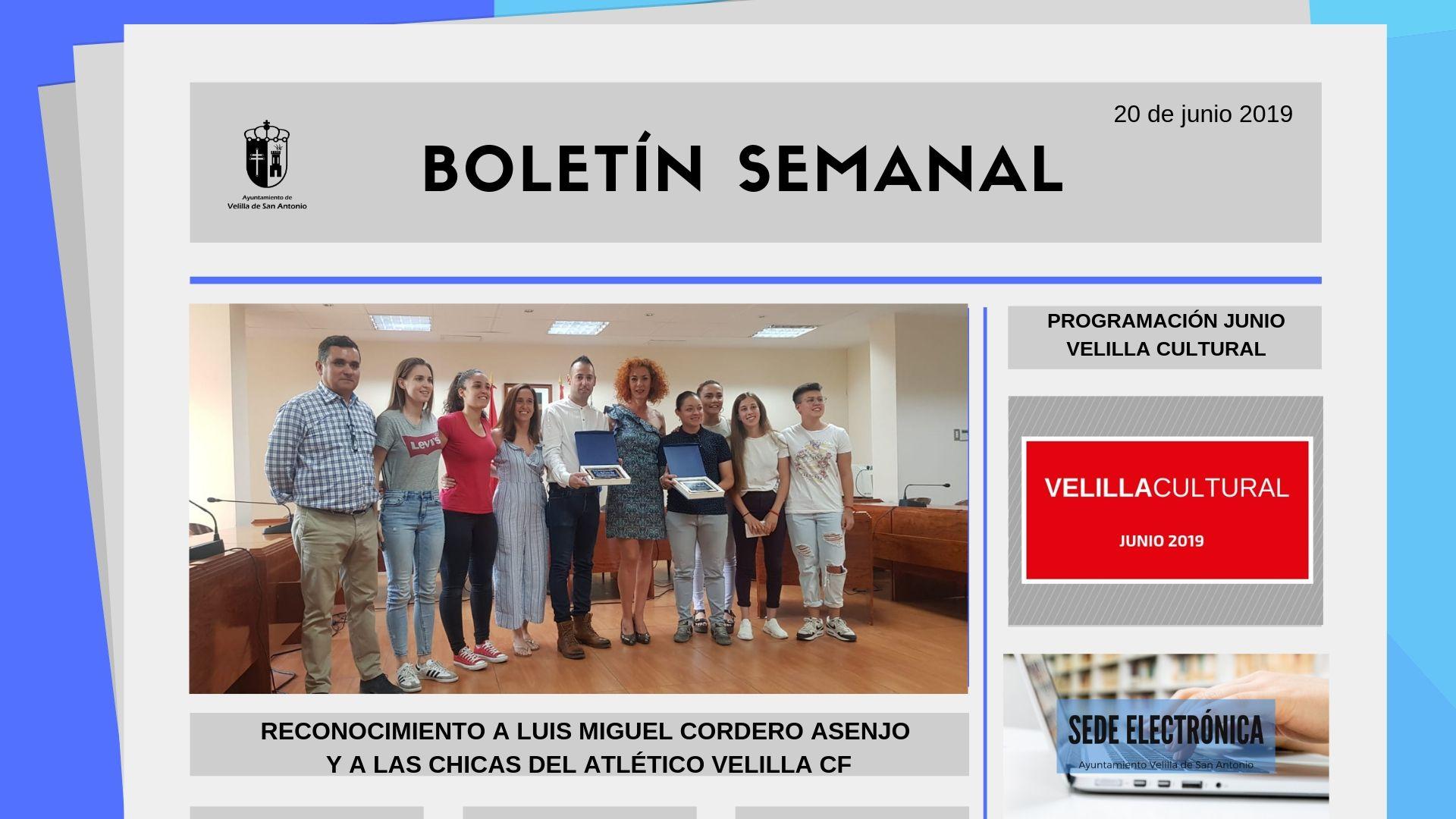 Boletín Semanal 21/2019