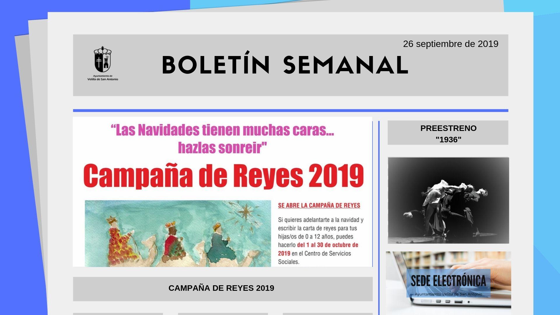 Boletín Semanal 31/2019