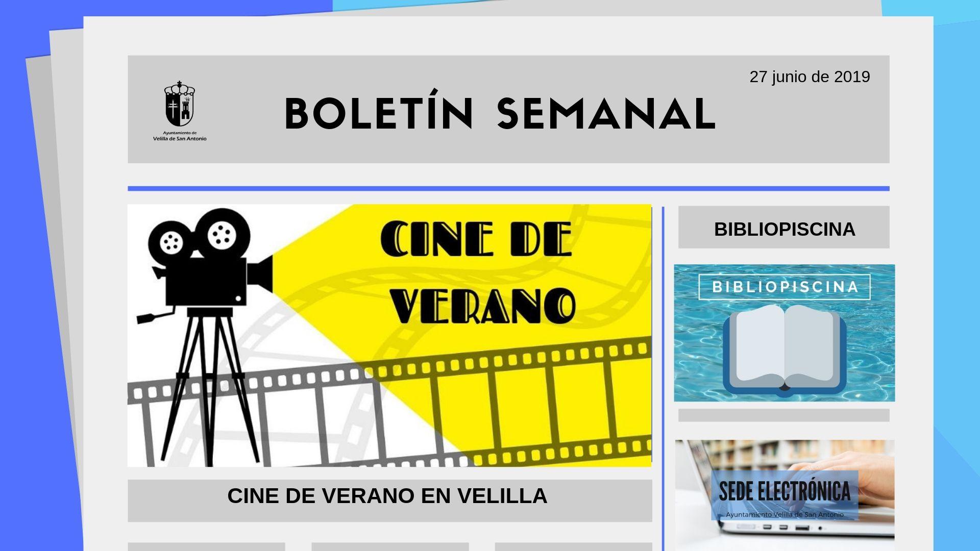 Boletín Semanal 22/2019