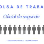 Listado provisional admitidos y excluidos bolsa de trabajo oficial de segunda