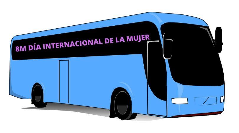 Autobús gratuito para la Manifestación del 8M, Día Internacional de la Mujer