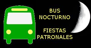 Autobuses nocturnos durante las Fiestas