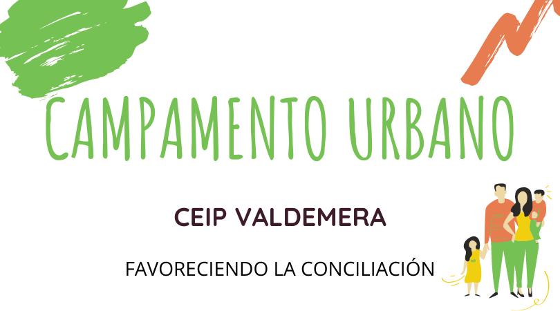 Campamento urbano CEIP VALDEMERA, inscripciones del 8 al 15 de junio