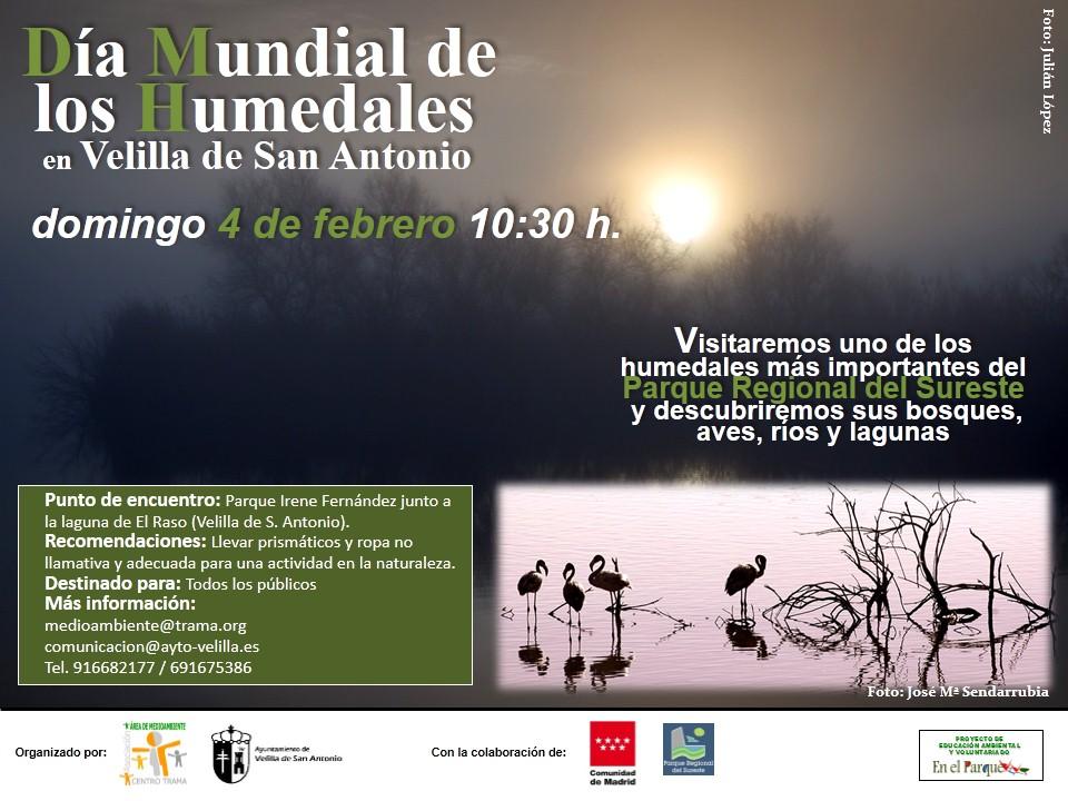 El 4 de febrero celebraremos el Día Mundial de los Humedales en Velilla