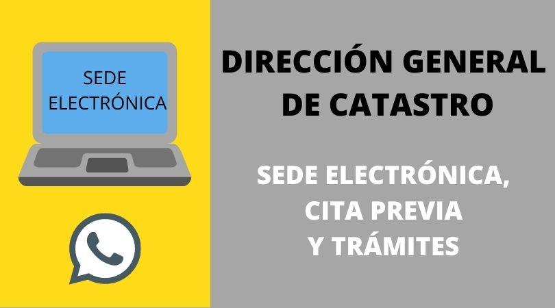 Trámites en la Dirección General de Catastro a través de su Sede Electrónico sin certificado