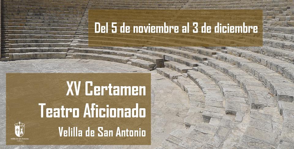 El 5 de noviembre arranca el XV Certamen de teatro aficionado de Velilla