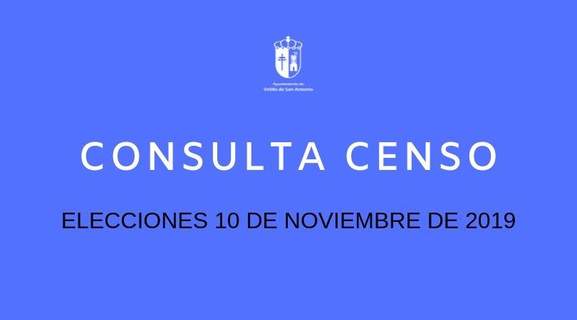 Consulta del censo electoral Elecciones 10 de noviembre