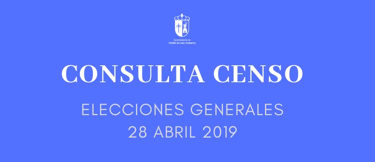 Consulta del censo electoral Elecciones 28 de abril