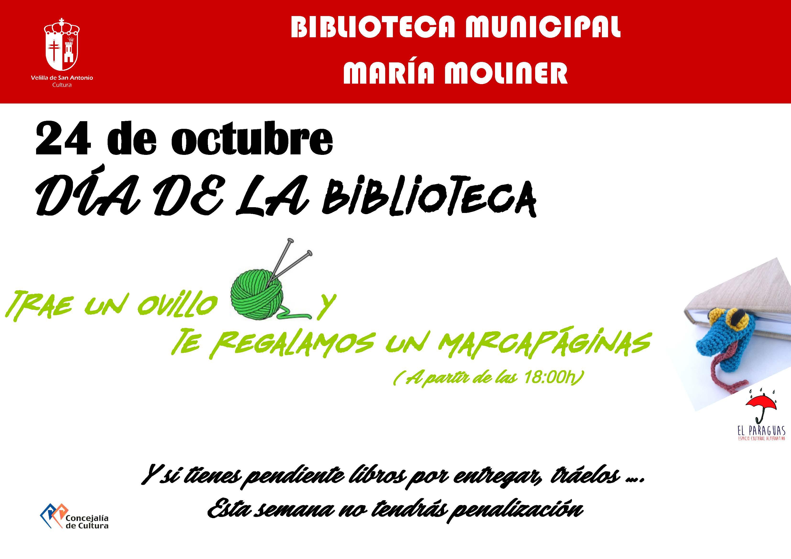 24 de octubre, Día de la Biblioteca
