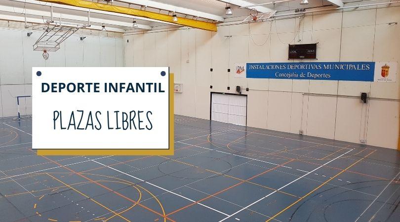 Plazas libres en las actividades de deporte infantil