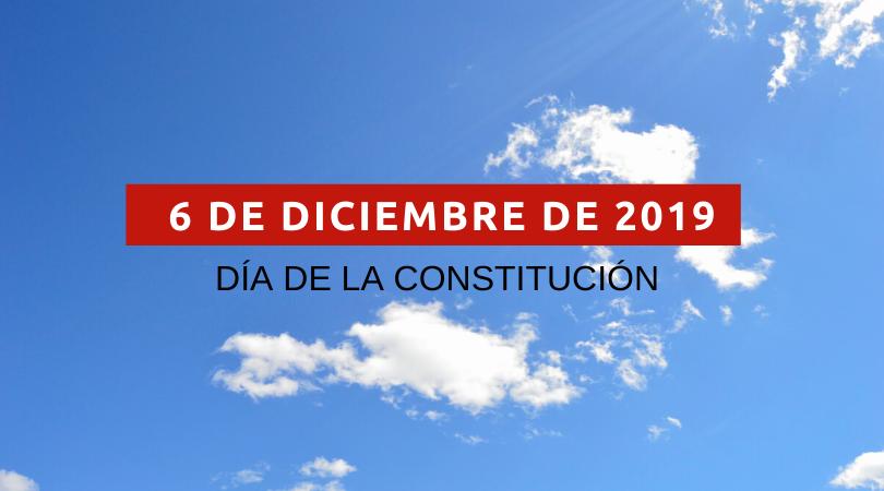 6 de diciembre, Día de la Constitución