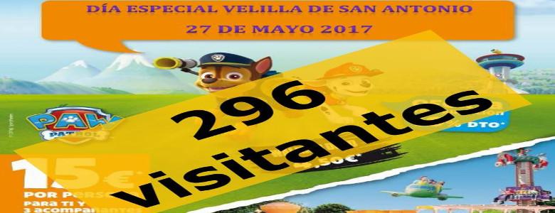 Gran acogida del Día de Velilla en el Parque de Atracciones de Madrid