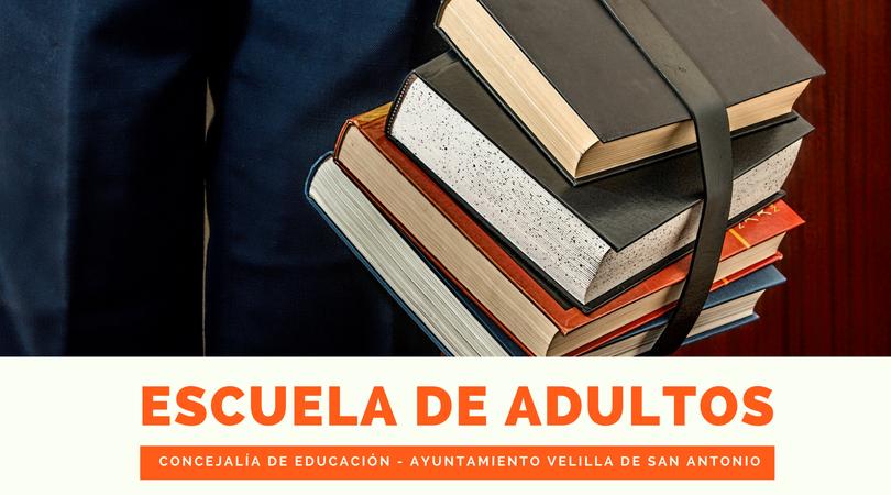Abierto el plazo de matriculación en la Escuela de Adultos, hasta el 3 de julio