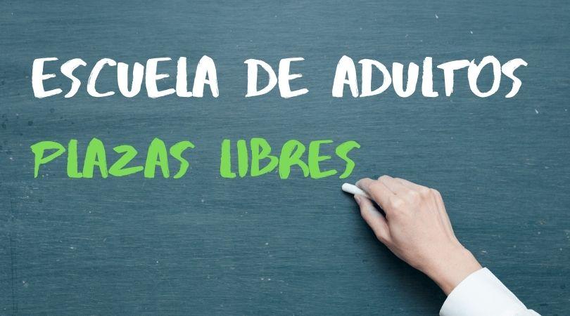 Plazas libres en la Escuela de Adultos Municipal para estudiar ESO y español para extranjeros