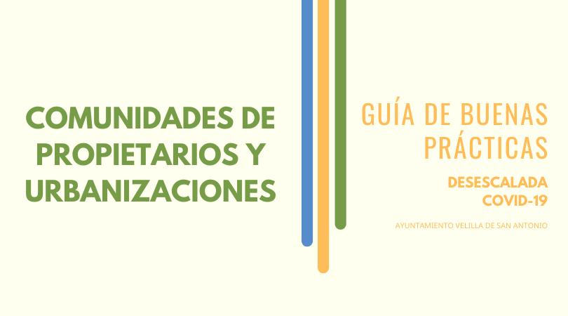 Buenas prácticas en las urbanizaciones y comunidades de propietarios desescalada COVID-19