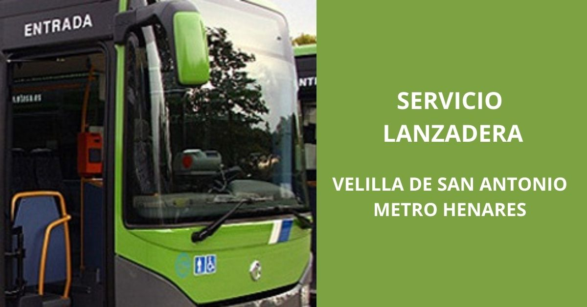 Bus lanzadera Velilla de San Antonio - Metro Henares