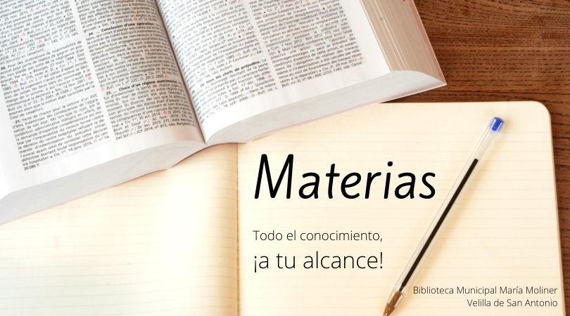 A partir de septiembre, en la biblio, Materias: Todo el conocimiento a tu alcance