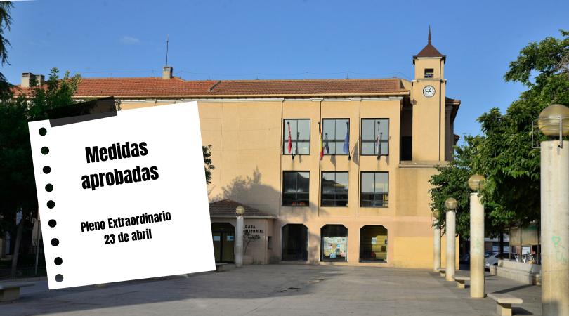 El Pleno del Ayuntamiento de Velilla aprobó ayer las medidas presentadas por el Equipo de Gobierno en relación con la crisis del COVID-19