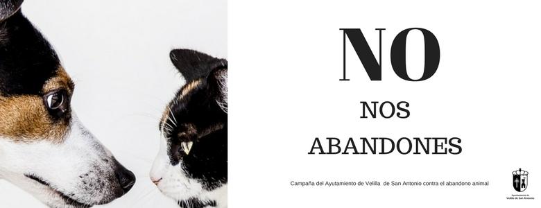 """""""NO NOS ABANDONES"""", Campaña del Ayuntamiento de Velilla de San Antonio contra el abandono de los animales."""