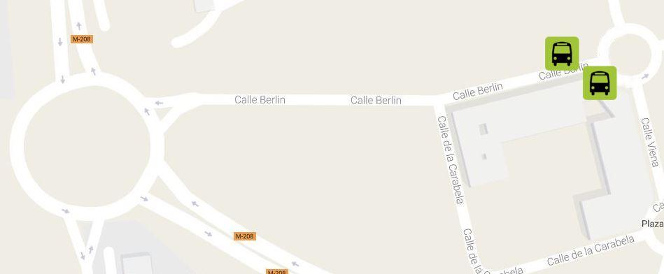 Ubicación y horarios de la nueva parada de la Calle Berlín