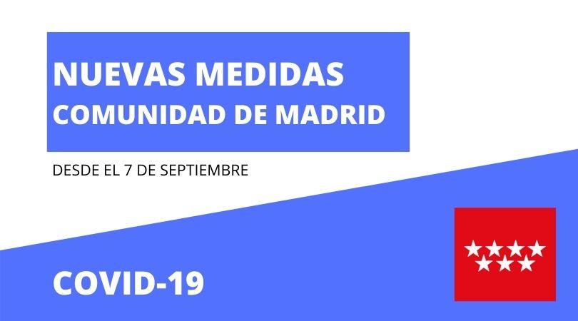 Nuevas medidas en Madrid a partir del 7 de septiembre