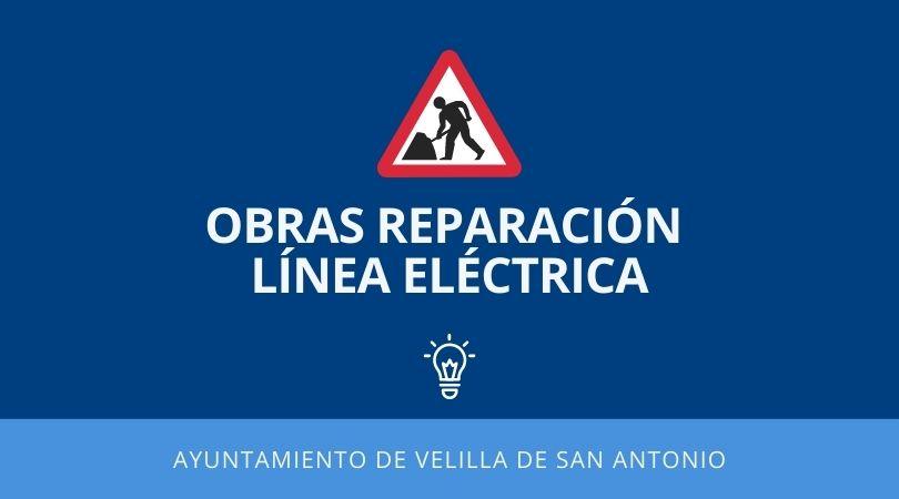 Obras reparación línea eléctrica en el antiguo polígono industrial
