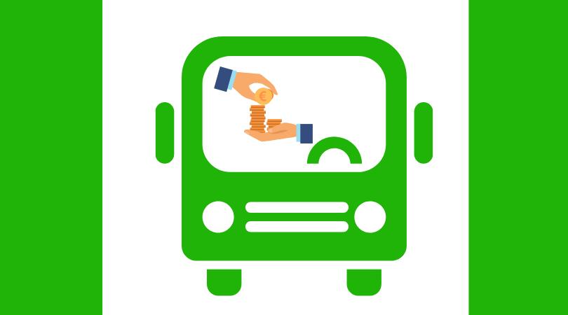 Pago en efectivo en los autobuses