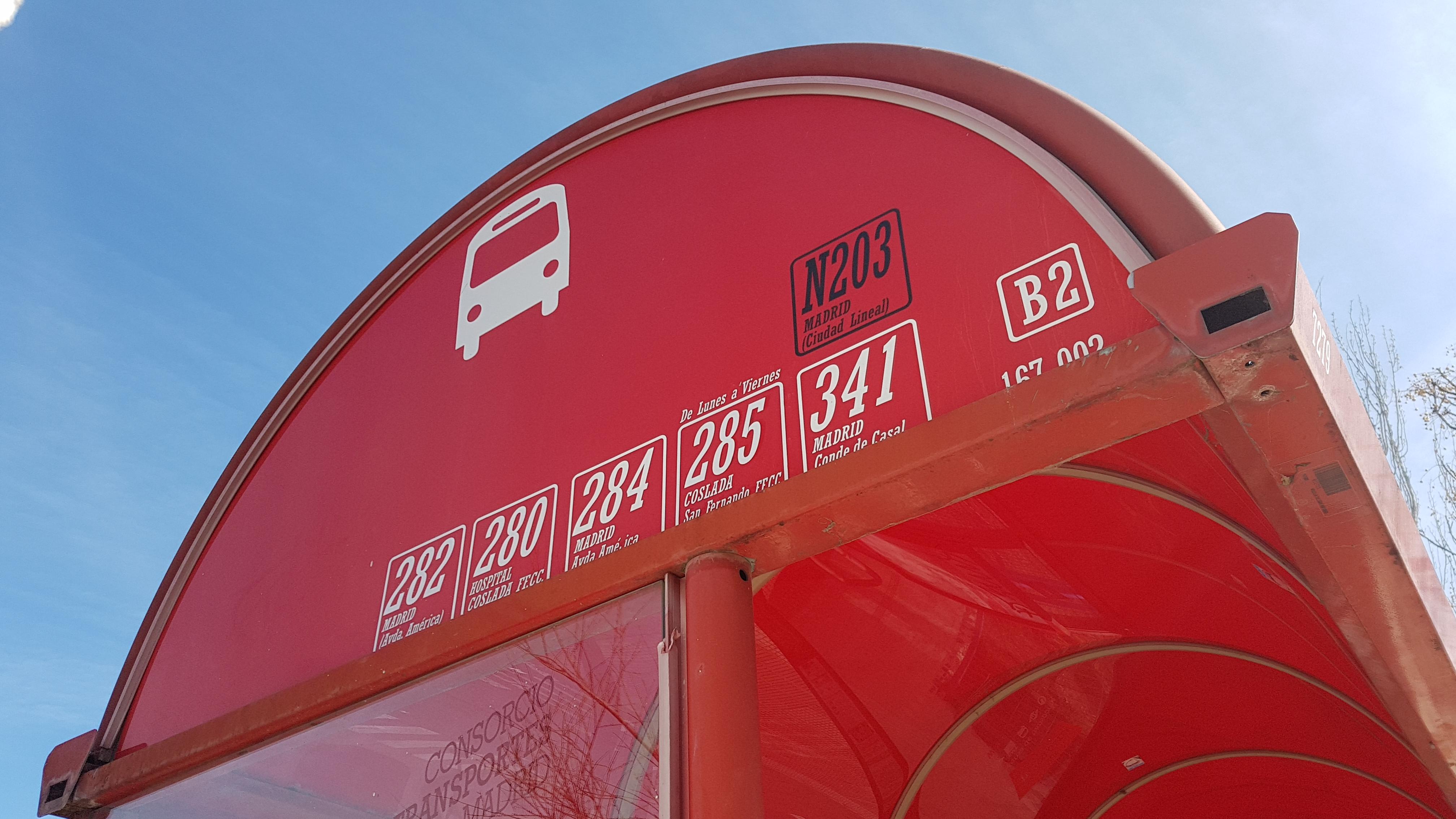 Horarios de autobuses para el 9 de noviembre festividad de Ntra. Señora de la Almudena