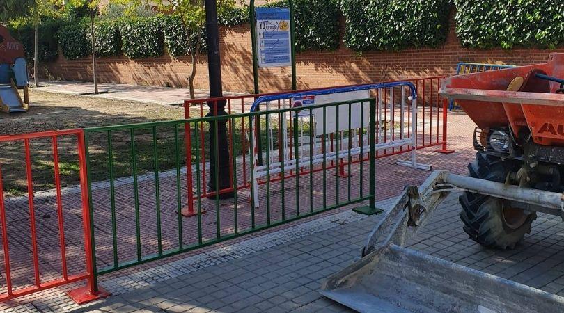 Se inician las obras de remodelación del parque de la cl Jacaranda