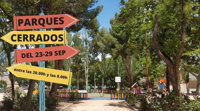 Los parques se cerrarán de 20.00 a 8.00 horas desde hoy y hasta el 29 de septiembre