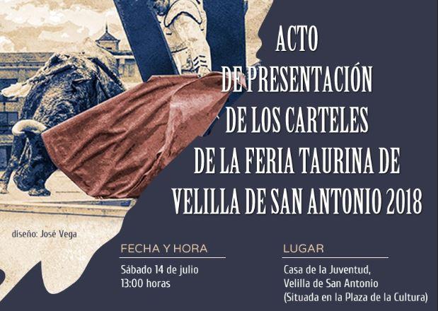 Presentación de los carteles de la Feria Taurina Velilla de San Antonio 2018
