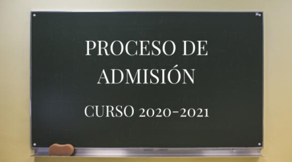 Último día Proceso admisión curso 2020-2021