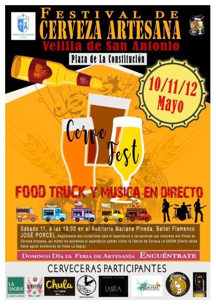 I Festival de Cerveza Artesana Velilla de San Antonio (10, 11 y 12 de mayo)