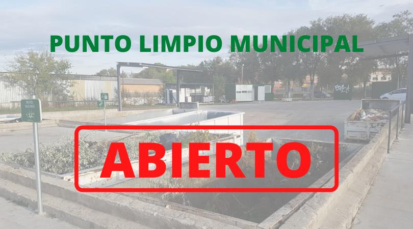 El Ayuntamiento de Velilla abre desde mañana 19 de mayo, las instalaciones del Punto Limpio Municipal en su horario habitual