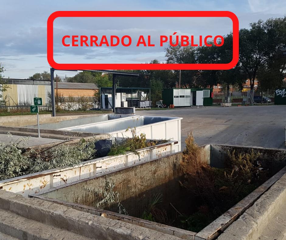 El Punto Limpio cierra sus instalaciones al público