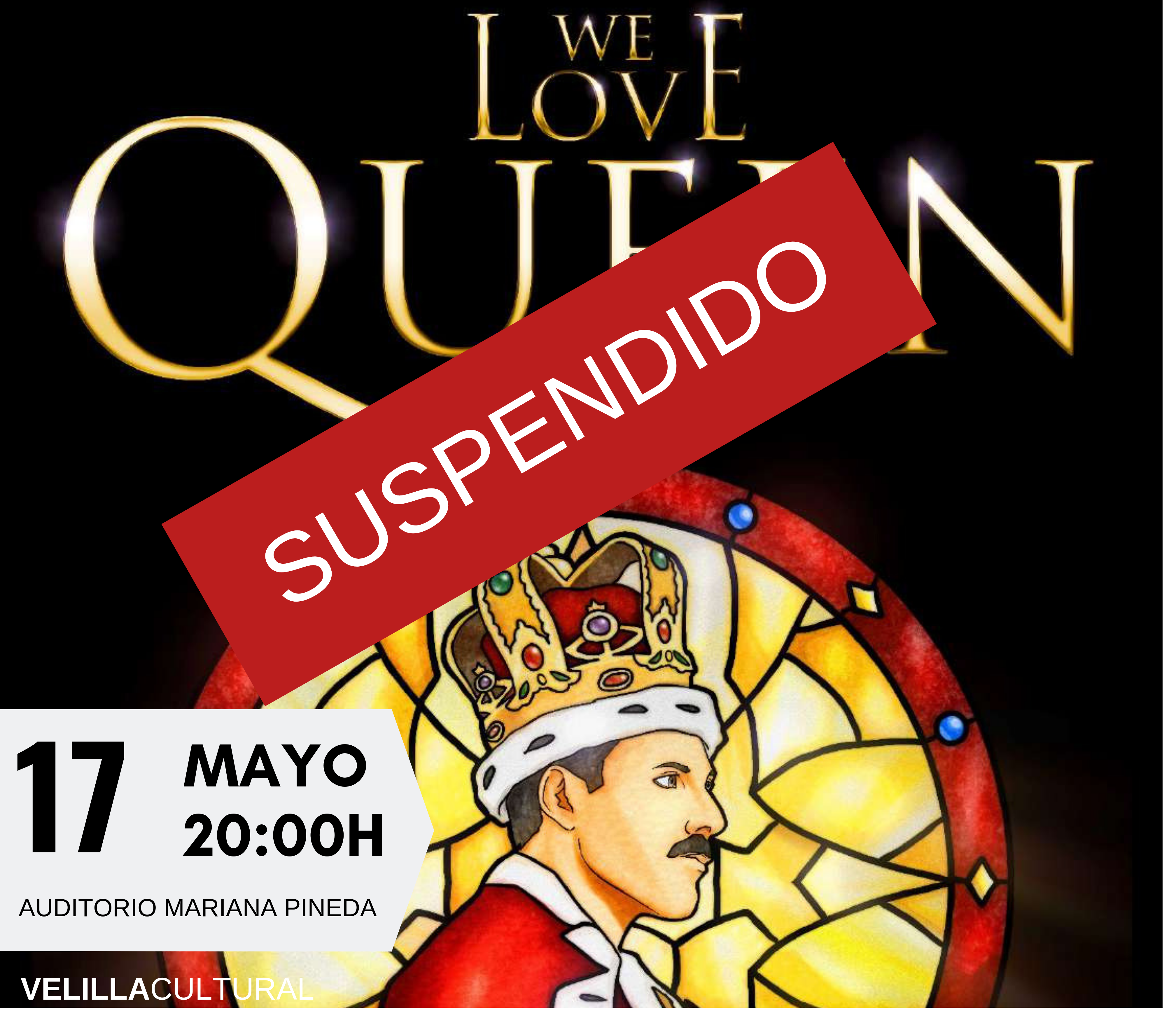 """Suspendido el espectáculo """"We love Queen"""""""