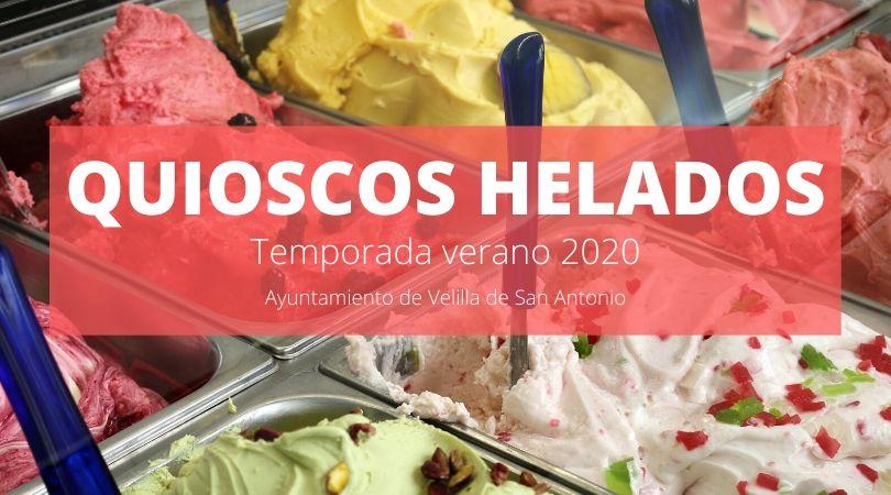 Instalación de quioscos de helados durante el periodo de verano 2020