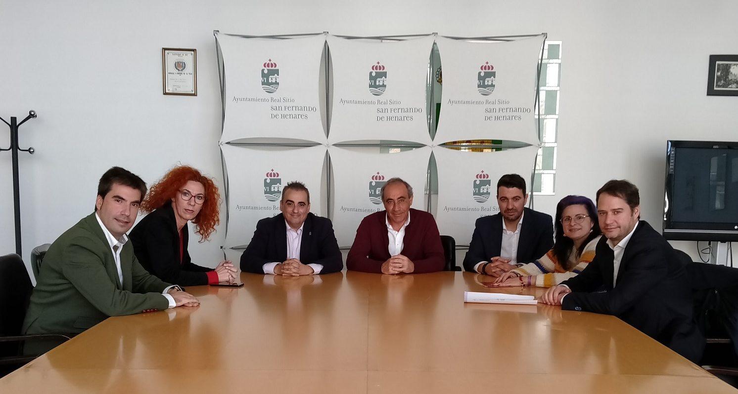 La Alcaldesa de Velilla se reunió con Alcaldes de municipios vecinos para establecer líneas de actuación conjunta ante el impacto acústico del aeropuerto Adolfo Suárez