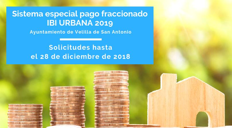 Hasta el 28 de diciembre se podrá solicitar el Sistema Especial de Pago Fraccionado del Ibi Urbana