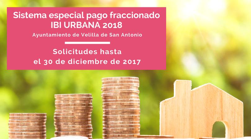 Hasta el 30 de diciembre se podrá solicitar el Sistema Especial de Pago Fraccionado del Ibi Urbana