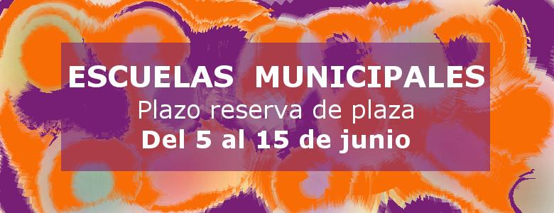Reserva de plaza en las actividades de las escuelas municipales